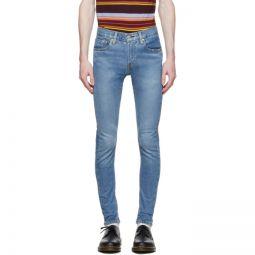 Blue Skinny Taper Jeans