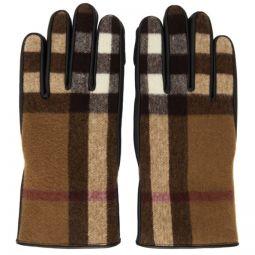 Tan & Black Lambskin Gabriel Gloves