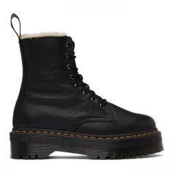 Black Faux-Fur Lined Platform Jadon Boots