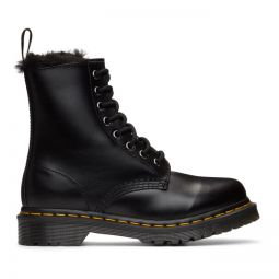 Black 1460 Serena Faux-Fur Lined Boots