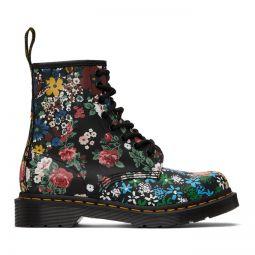 Black Floral 1460 Pascal Boots