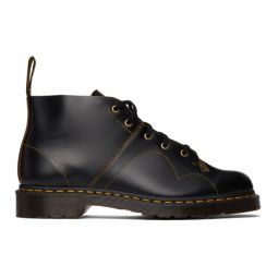 Leather Church Monkey Boots