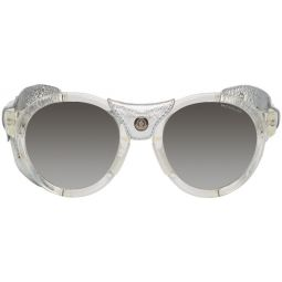 Moncler Silver Leather ML0046 Sunglasses