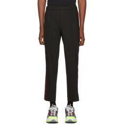 Kenzo Black Cropped Sideband Trousers