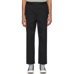 Acne Studios Black Pinstripe Cropped Trousers