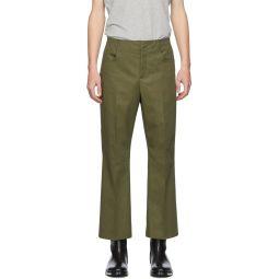 Acne Studios Khaki Twill Bootcut Trousers