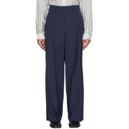 Maison Margiela Navy Extra Fine Wool Trousers