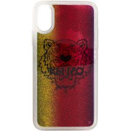 Kenzo Multicolor Glitter Tiger Head iPhone X/XS Case