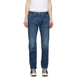 Re/Done Blue Straight Fit Jeans
