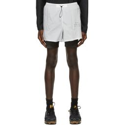 Nike White 3-In-1 Run Division Shorts