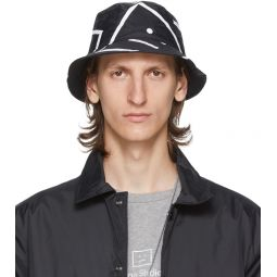 Acne Studios Black Motif Bucket Hat