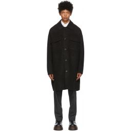 Acne Studios Black Wool Mlange Coat