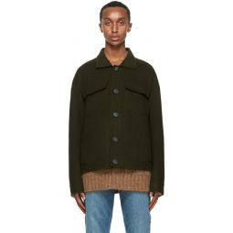 Acne Studios Green Wool Twill Jacket