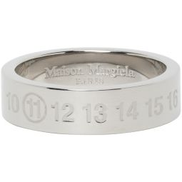 Maison Margiela Silver Polished Numbers Ring