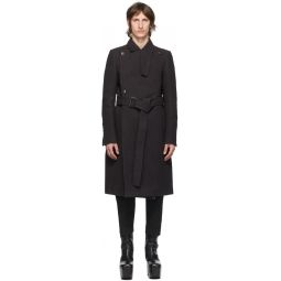 Rick Owens Black Moody Coat