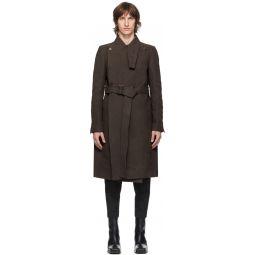 Rick Owens Brown Moody Coat