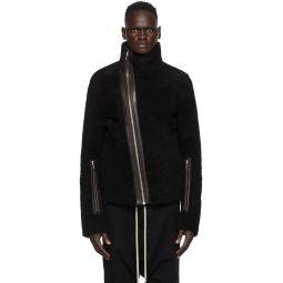 Rick Owens Black Shearling Bauhaus Jacket