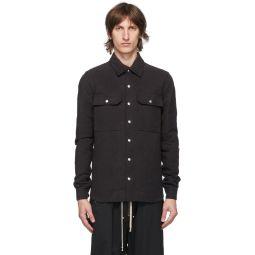 Rick Owens Black Outershirt Jacket