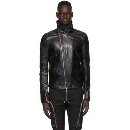Rick Owens Black Leather Bauhaus Jacket