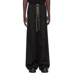 Rick Owens Black Wide-Leg Bela Trousers