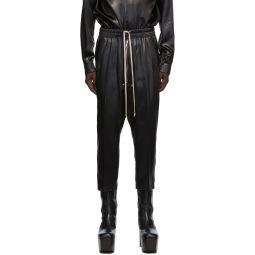 Rick Owens Black Bela Cropped Trousers