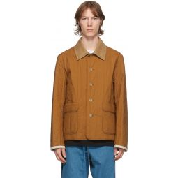 Lanvin Reversible Brown Quilted Shirt Jacket