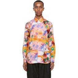 Comme des Garons Shirt Multicolor Futura Edition Print Shirt