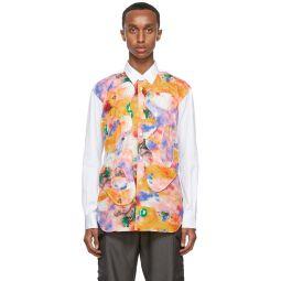 Comme des Garons Shirt White Futura Edition Print Shirt