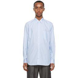 Comme des Garons Shirt Blue Striped Forever Shirt
