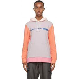 Comme des Garons Shirt Multicolor Logo Hoodie