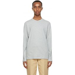 Comme des Garons Shirt Grey Back Logo Long Sleeve T-Shirt