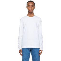 Comme des Garons Shirt White Back Logo Long Sleeve T-Shirt