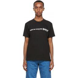 Comme des Garons Shirt Black Logo T-Shirt