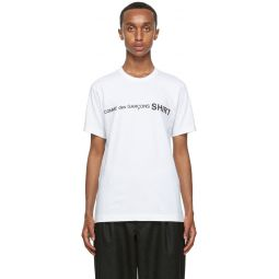 Comme des Garons Shirt White Logo T-Shirt