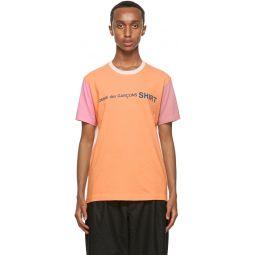 Comme des Garons Shirt Multicolor Cotton Logo T-Shirt