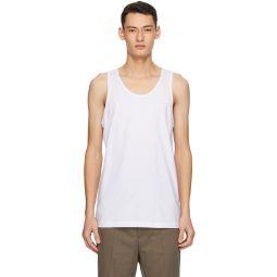 Comme des Garons Shirt White Jersey Tank Top