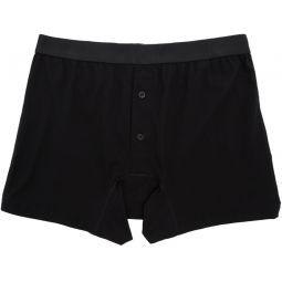 Comme des Garons Shirt Black Fine Jersey Boxer Briefs