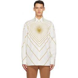 Marni Off-White Infinity Heart Shirt