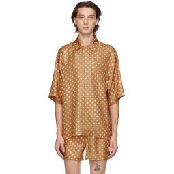 Marni Brown Smiley Edition Silk Drops Shirt