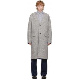Kenzo Reversible Grey Wool Coat