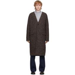 Kenzo Reversible Brown Wool Coat