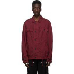 Kenzo Burgundy Canvas Workwear Jacket