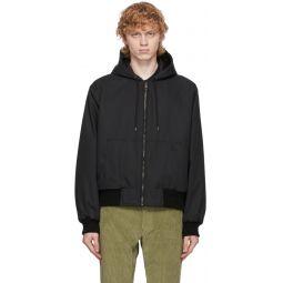 Kenzo Reversible Black Canvas Hooded Jacket