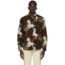 Kenzo Black & Brown Chevaux Jacket