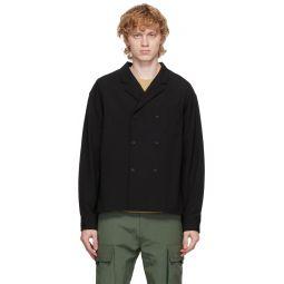 Kenzo Black Wool Shirt Jacket