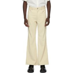 Kenzo Beige Corduroy Flared Trousers