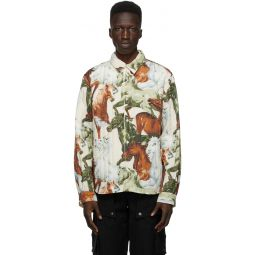 Kenzo White Quilted Chevaux Jacket