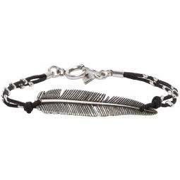 Isabel Marant Silver & Black Feather Bracelet