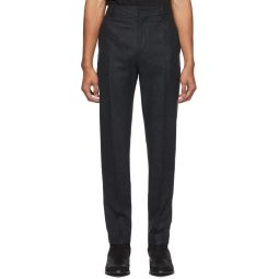 Isabel Marant Black Faded Slimy Trousers
