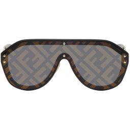 Fendi Black 'Forever Fendi' Shield Sunglasses